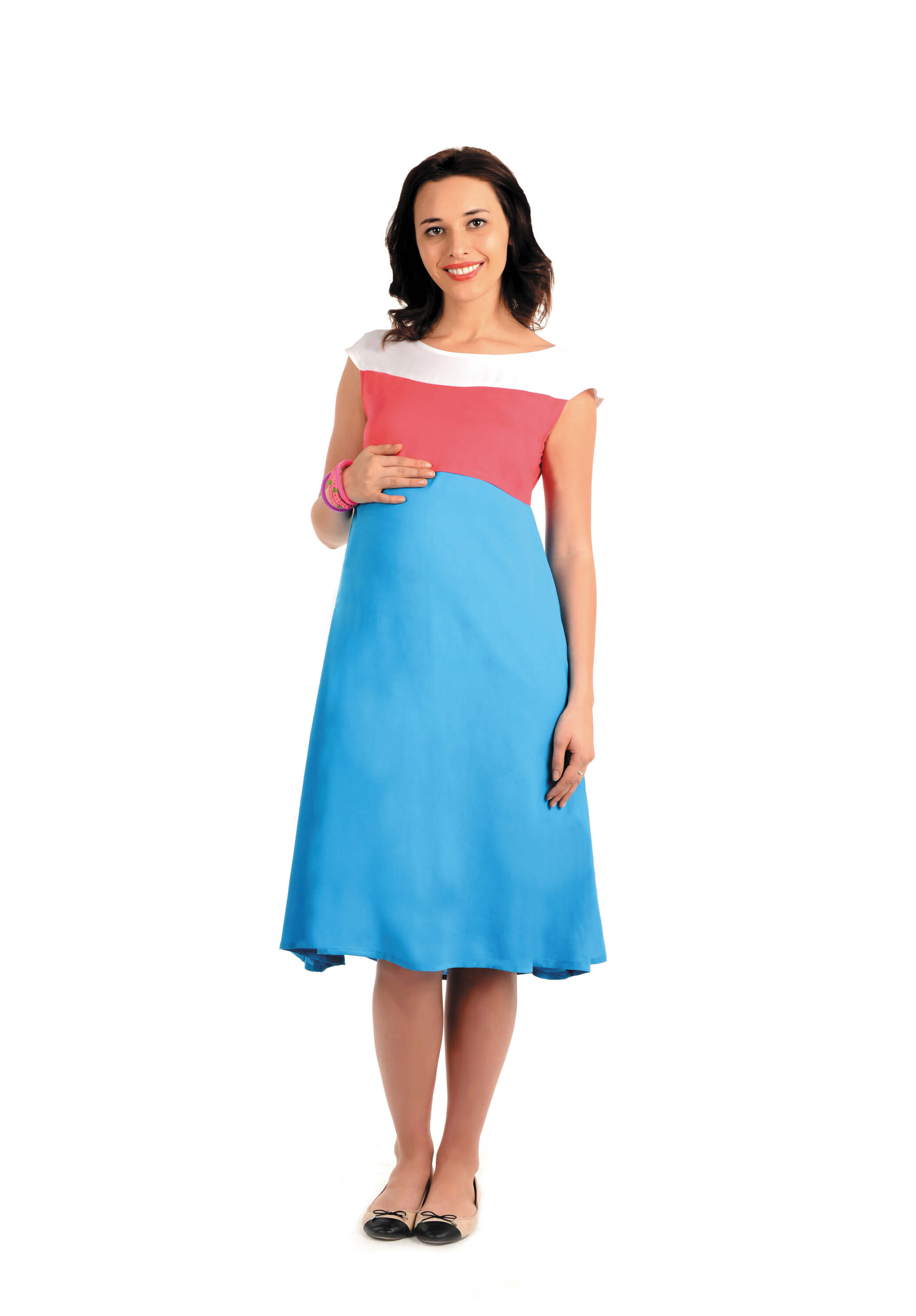 Of napius maternity casual dress pink blue house of napius maternity casual dress pink blue ombrellifo Image collections